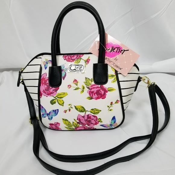 a66a80a92 Betsey Johnson Bags | Luv Quinn Mini Satchel Crossbody | Poshmark